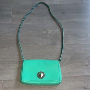 Kate Spade Sally Newbury Lane Green Leather Bag